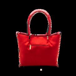 Maxi-bag a spalla rossa in microfibra scamosciata, Saldi, 125702033MFROSSUNI, 002 preview