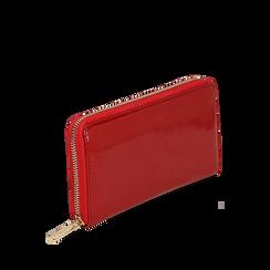 Portafogli rosso in vernice, Borse, 142200896VEROSSUNI, 002a