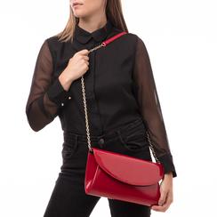 Pochette rossa in vernice, Borse, 145122502VEROSSUNI, 002a