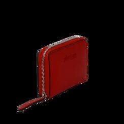 Portafoglio compatto rosso in eco-pelle, Borse, 133731344EPROSSUNI, 002a