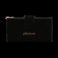 Portafogli nero in microfibra con 25 vani , Borse, 133322158MFNEROUNI, 001 preview