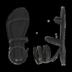 CALZATURA FLAT MICROFIBRA PIETRE NERO, Chaussures, 154928863MPNERO036, 003 preview