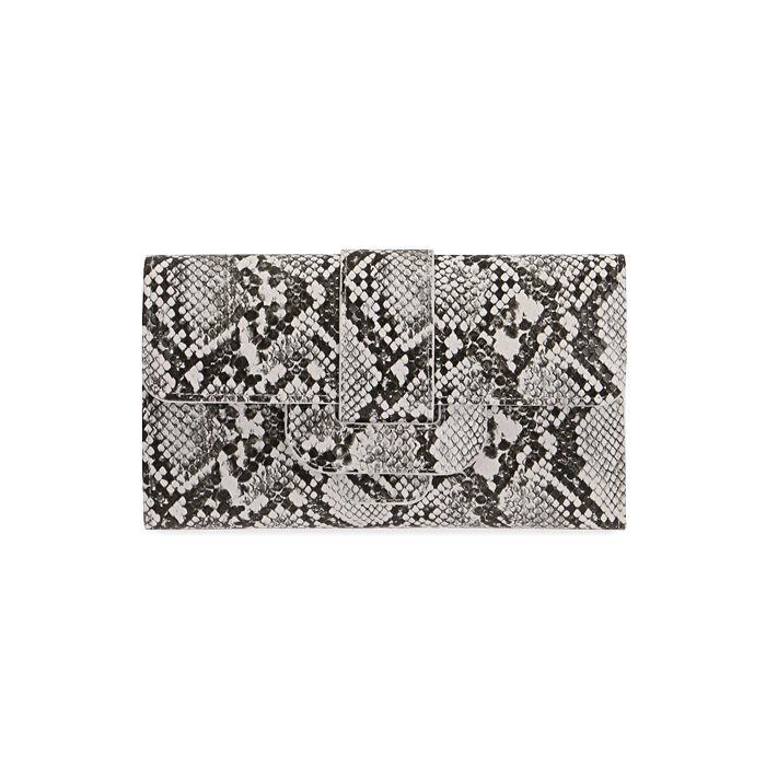 Portafogli bianco/nero stampa pitone , Primadonna, 175102538PTBINEUNI
