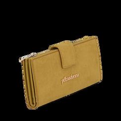 Portafogli giallo in microfibra, Borse, 145122158MFGIALUNI, 002a