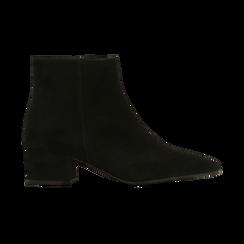 Tronchetti neri a punta, con tacco medio 4,5 cm, Primadonna, 127242325CMNERO, 001 preview