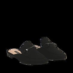Mules flat nere in microfibra , Scarpe, 134901811MFNERO036, 002a