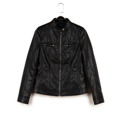 Chaqueta biker en eco-piel color negro, Primadonna, 156501203EPNERO3XL, 003 preview