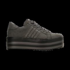 Sneakers grigie suola platform multistrato, Scarpe, 122818575MFGRIG, 001 preview