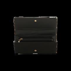 Portafoglio nero in microfibra scamosciata con 12 vani, Borse, 122200022MFNEROUNI, 004 preview