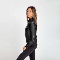 Giacca ecopelle corta nera, Abbigliamento, 126577302EPNEROL, 004 preview
