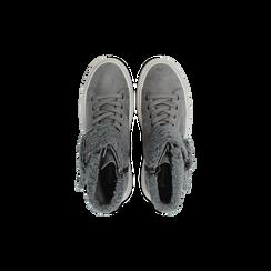 Sneakers grigie con risvolto in eco-shearling, Primadonna, 124110063MFGRIG036, 004 preview