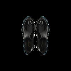 Chelsea Boots neri vernice, lavorazione Duilio, Scarpe, 120618206VENERO040, 004 preview