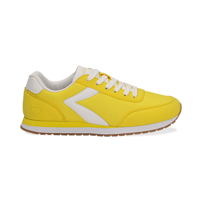 476d3e368473 Sneakers gialle in tessuto, design aerodinamico, Scarpe,  132619024TSGIAL036, 001 preview ...