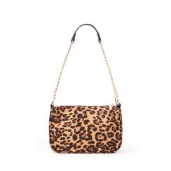 Borsa a tracolla leopard in microfibra, Borse, 145127201MFLEMAUNI, 001a