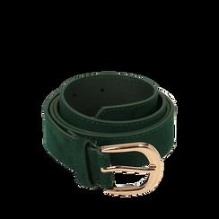 Cintura verde in microfibra, Abbigliamento, 144045710MFVERDUNI, 001a