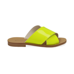 Mules flat gialle in vernice fluo, Primadonna, 136767002VEGIAL036, 001 preview