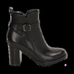 Ankle boots neri, tacco 8 cm , Primadonna, 163066173EPNERO036, 001 preview