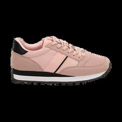 Sneakers nude in tessuto tecnico , Scarpe, 142619079TSNUDE035, 001 preview