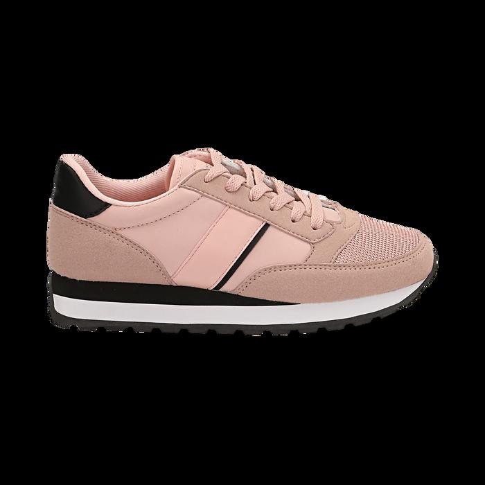 Sneakers nude in tessuto tecnico , Scarpe, 142619079TSNUDE035