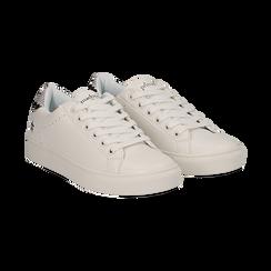 Sneakers bianche in eco-pelle dettaglio snake, Scarpe, 132619071EPBIAN036, 002 preview