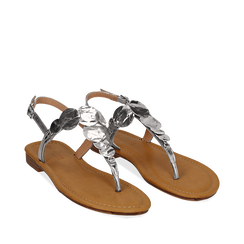 Sandali gioiello argento in laminato, Primadonna, 134985111LMARGE036, 002a