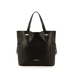 Bolso grande de ecopiel en color negro, Bolsos, 153708276EPNEROUNI, 001a