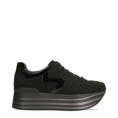 Sneakers nere con maxi platform a righe, Primadonna, 122800321MFNERO035, 001a