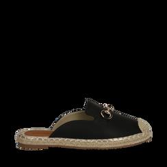 Mules espadrillas nere in eco-pelle , Scarpe, 134951159EPNERO035, 001a