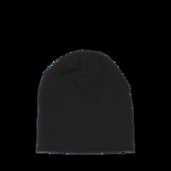 Cappello nero in tessuto con stampe, Abbigliamento, 14B406054TSNERO3XL, 002a