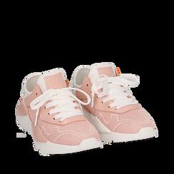 Dad shoes en tejido tecnico color nude, Zapatos, 15F609059TSNUDE035, 002a
