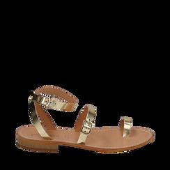 Sandali oro laminato, Primadonna, 158100570LMOROG036, 001a