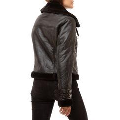 Aviator jacket nera, Primadonna, 166565001EPNEROM, 002a