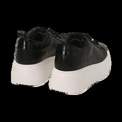 Sneakers noires, compensée 6,50 cm , Primadonna, 167505101EPNERO037, 004 preview