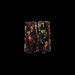 Tronchetti neri effetto tapestry, tacco a cono 8 cm, Scarpe, 124993281VONERO, 003 preview