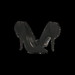Décolleté nere con pon-pon, tacco stiletto 11,5 cm, Primadonna, 122100530MFNERO, 005 preview