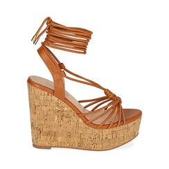 Sandalias corcho coñac, cuña 12,5 cm, 172717114EPCOGN038, 001a