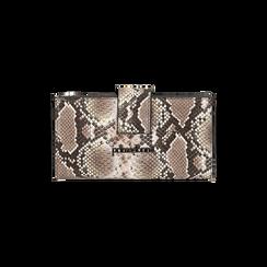 Portefeuille blanc/noir imprimé python, Primadonna, 165122158PTBINEUNI, 001 preview