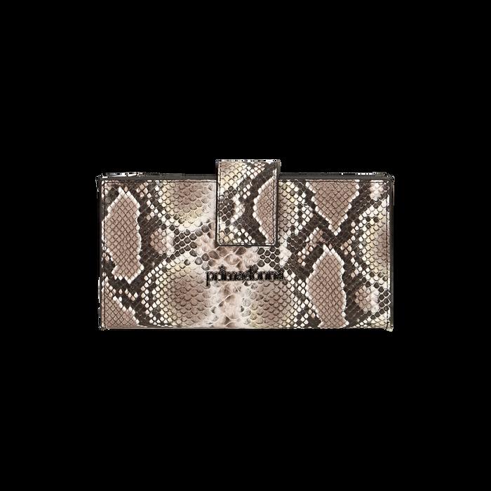 Portefeuille blanc/noir imprimé python, Primadonna, 165122158PTBINEUNI