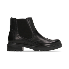 Chelsea Boots eleganti in vera pelle nera, Scarpe, 127710620PENERO, 001 preview