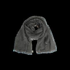 Pashmina grigia in tessuto , Abbigliamento, 14B404026TSGRIG3XL, 002 preview
