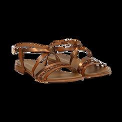 Sandali cuoio in eco-pelle, Saldi Estivi, 13B915126EPCUOI036, 002 preview