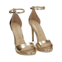 WOMEN SHOES SANDAL LAMINATED OROG, Chaussures, 152133410LMOROG040, 002a