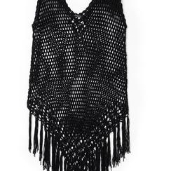 Mini-dress nero con lavorazione macramè, Primadonna, 13A345075TSNEROUNI, 002 preview