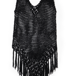 Mini-dress nero con lavorazione macramè, Primadonna, 13A345075TSNEROUNI, 002a