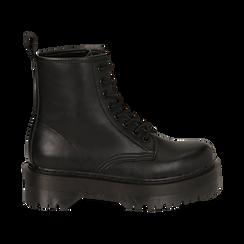 Botas militares en color negro, Primadonna, 162800001EPNERO036, 001 preview