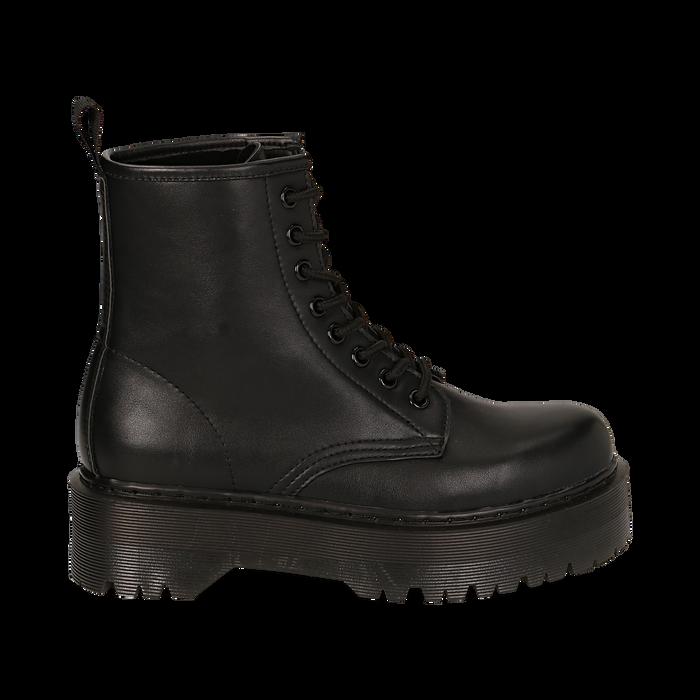 Botas militares en color negro, Primadonna, 162800001EPNERO035