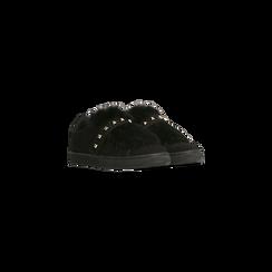 Sneakers nere  slip-on con dettagli faux-fur e borchie, Scarpe, 129300023MFNERO, 002 preview