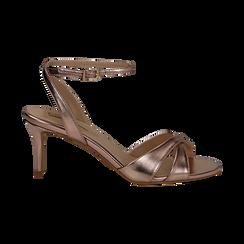 Sandali rosa in laminato, tacco 7 cm, Primadonna, 134819206LMROSA036, 001 preview