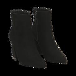 Ankle boots neri, tacco trapezio 8,5 cm , Stivaletti, 144961020MFNERO035, 002 preview