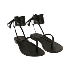 Sandalias negras con cordones, Primadonna, 174982380EPNERO035, 002 preview